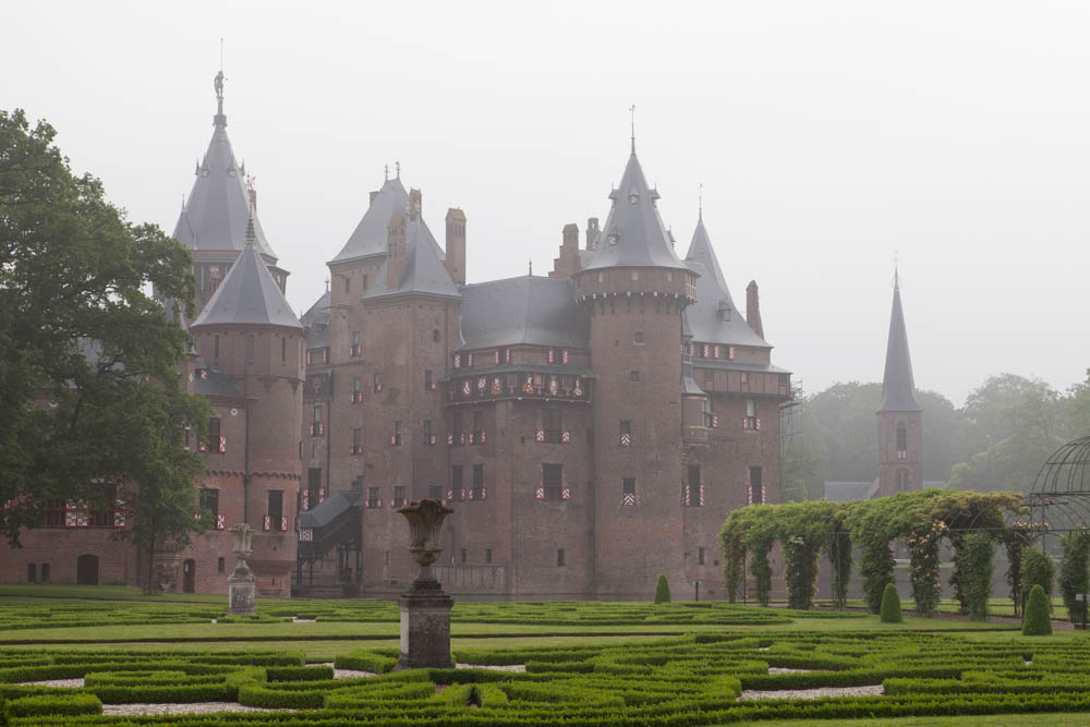 Castle De Haar in the mist