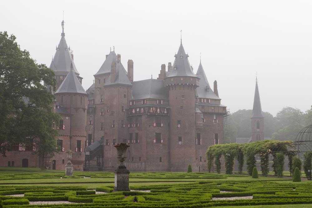 Castle De Haar in the mist