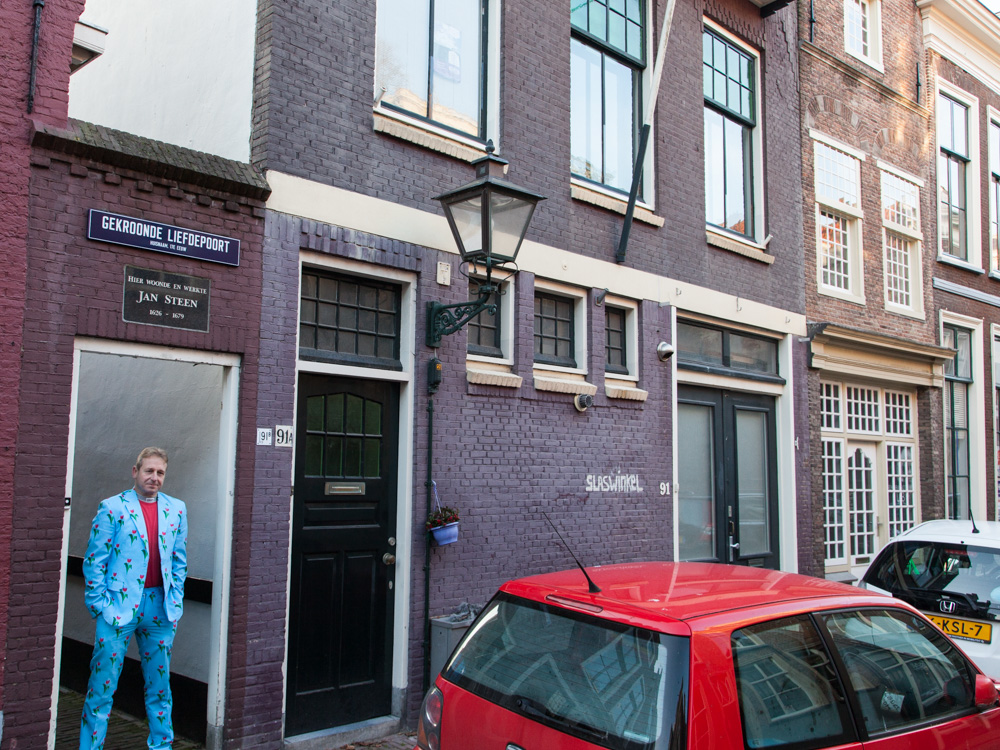 Gekroonde Liefdepoort/Langebrug in Leiden. Home of Jan Steen, Workplace of Jacob van Swanenburgh, teacher of Rembrandt van Rijn