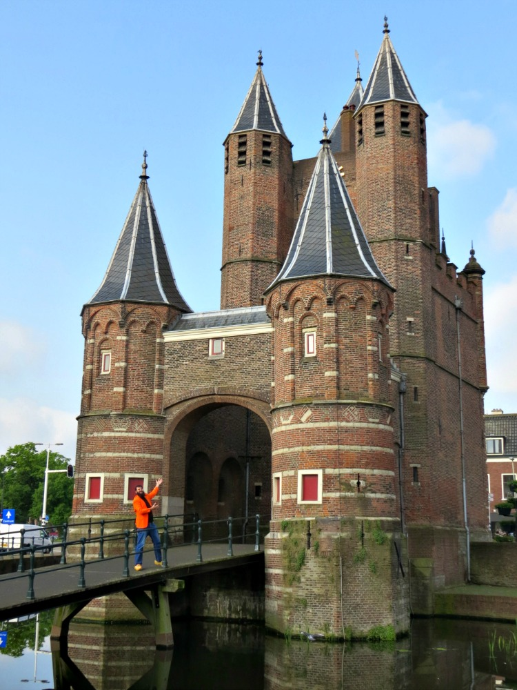 Jan at the Amsterdamse Poort, the last remaining gate of Haarlem