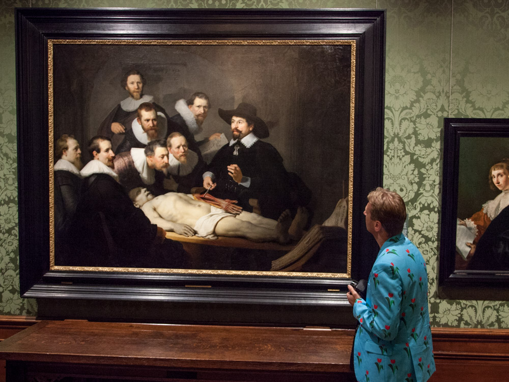 Rembrandt's The Anatomy Lesson of Dr. Nicholaes Tulp at the Mauritshuis in The Hague.