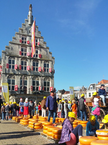 Children at the cheese market in Gouda