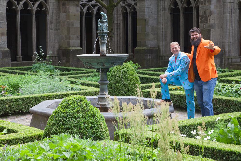At the church courtyard garden in Utrecht