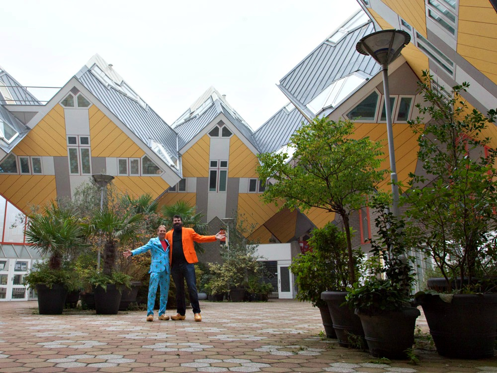 The famous cubic houses in Rotterdam