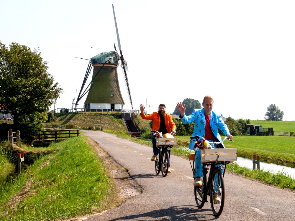 Cycling in the Dutch landscape