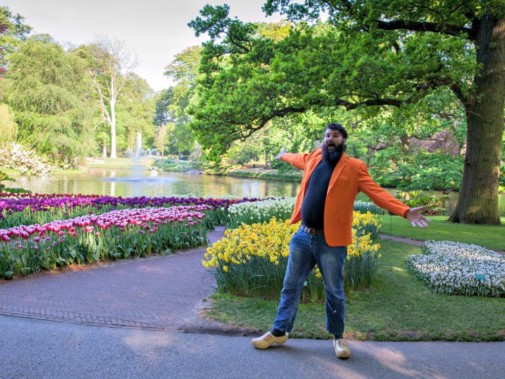 Jan in the Keukenhof Flower Garden