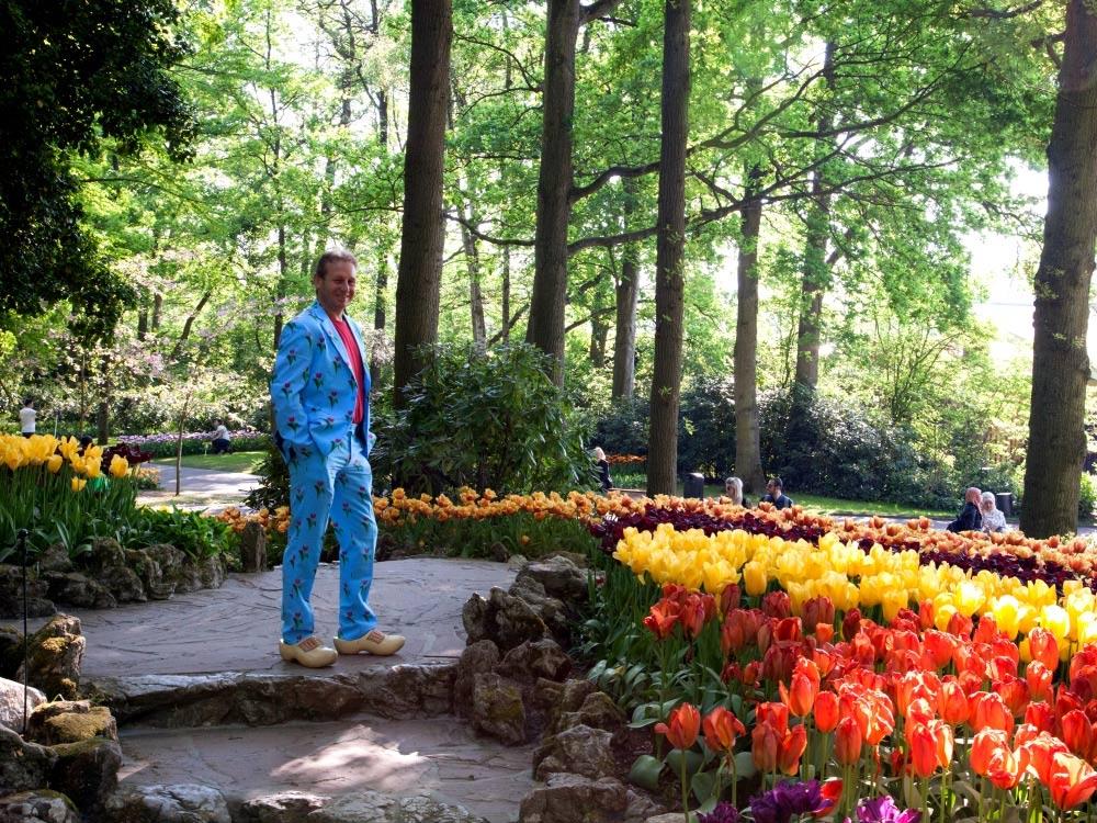Patrick in the Keukenhof gardens