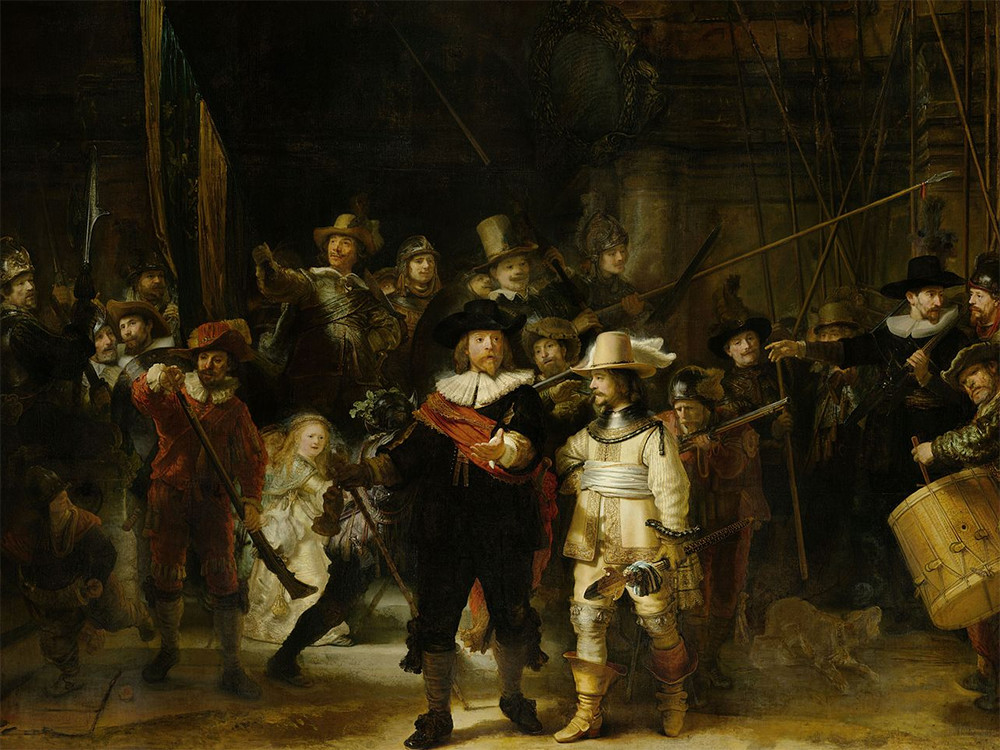 Rembrandt's Night Watch can be viewed in the Rijksmuseum in Amsterdam