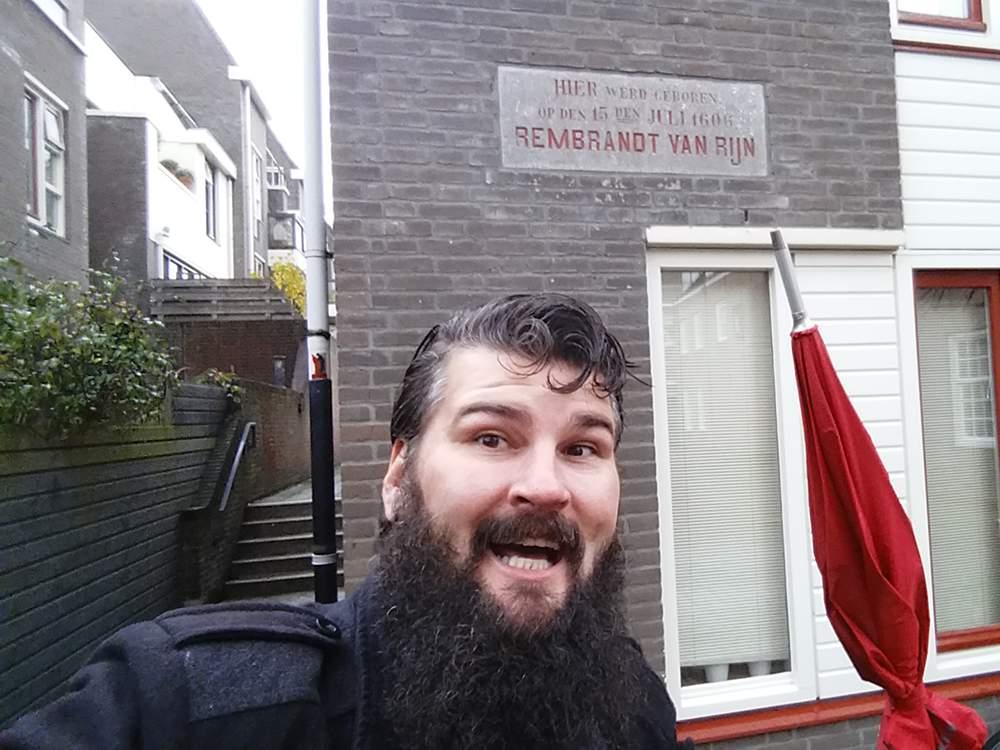 Weddesteeg 27, Leiden. Birthplace of Rembrandt van Rijn