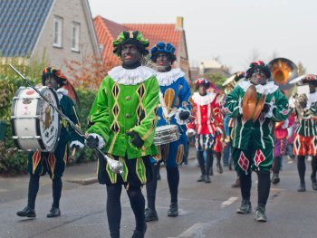 Zwarte Piet or Black Pete has been subject of discussion because he looks like the racist stereotype Blackface