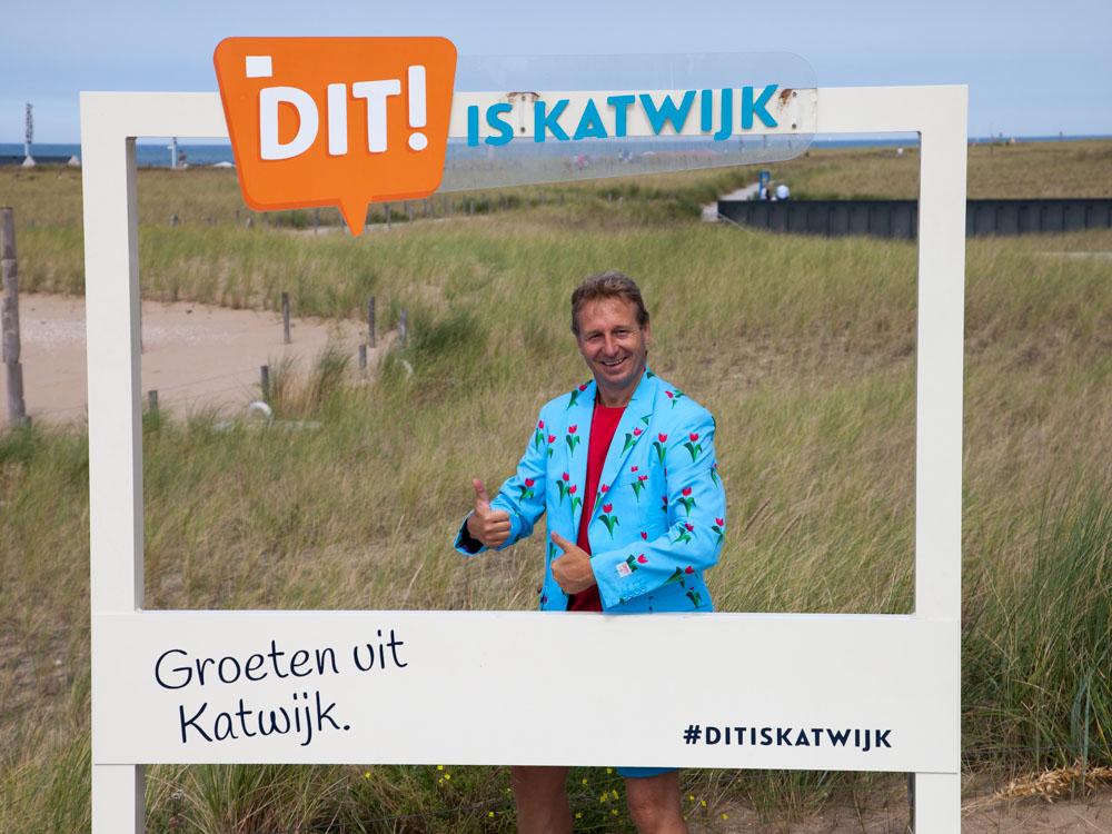 This is Katwijk sign in Katwijk aan Zee