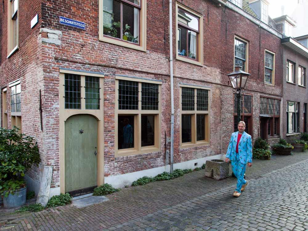 The Leiden American Pilgrim Museum in the Beschuitsteeg
