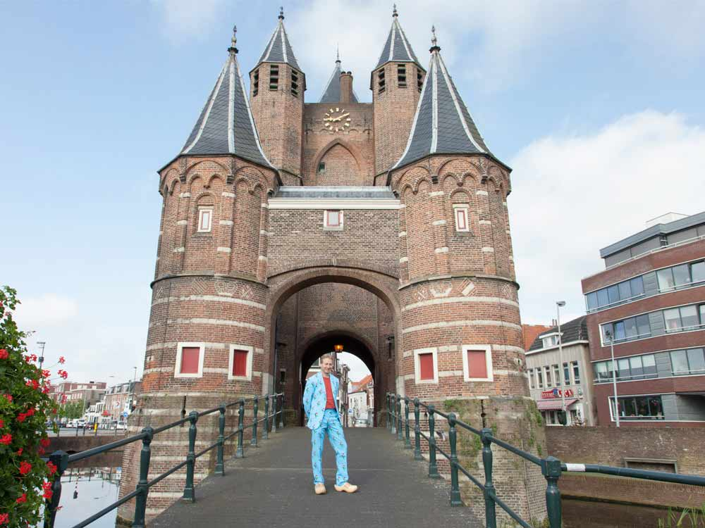 Patrick at the gate to the city of Haarlem