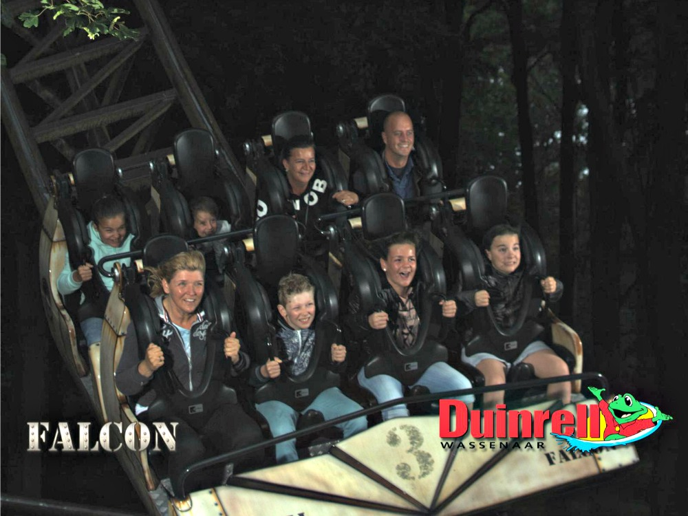 Falcon rollercoaster in themepark Duinrell