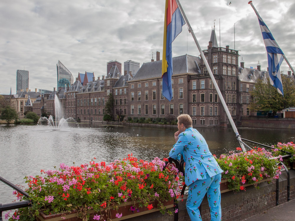 The hofvijver next to the Binnenhof in The Hague