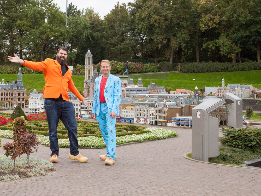 Jan and Patrick in Madurodam