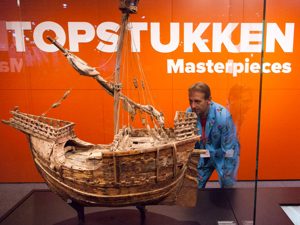 Masterpiece of the Maritime museum: old ship model