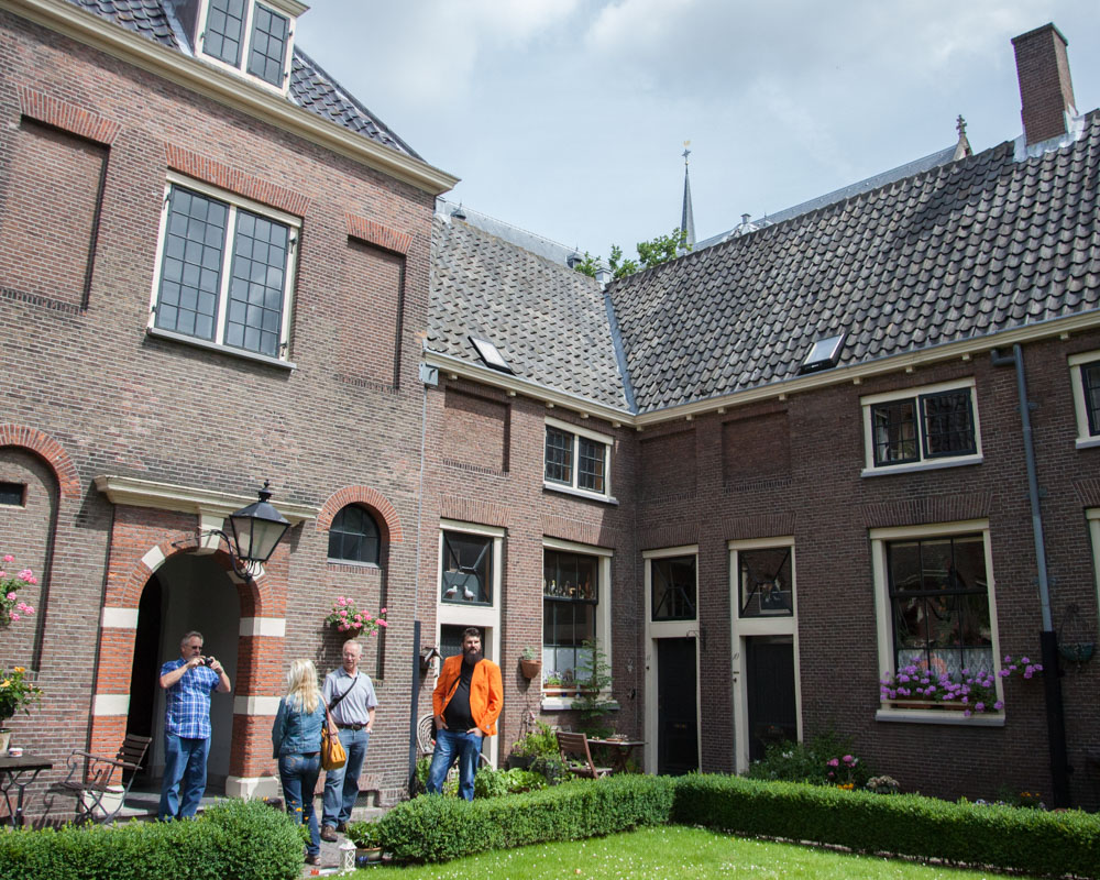 Pilgrim Fathers Courtyard in Leiden, The Netherlands