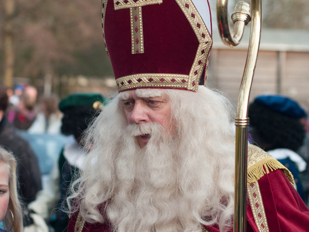 Saint Nicholas or Sinterklaas is the character that Santa Claus is based on