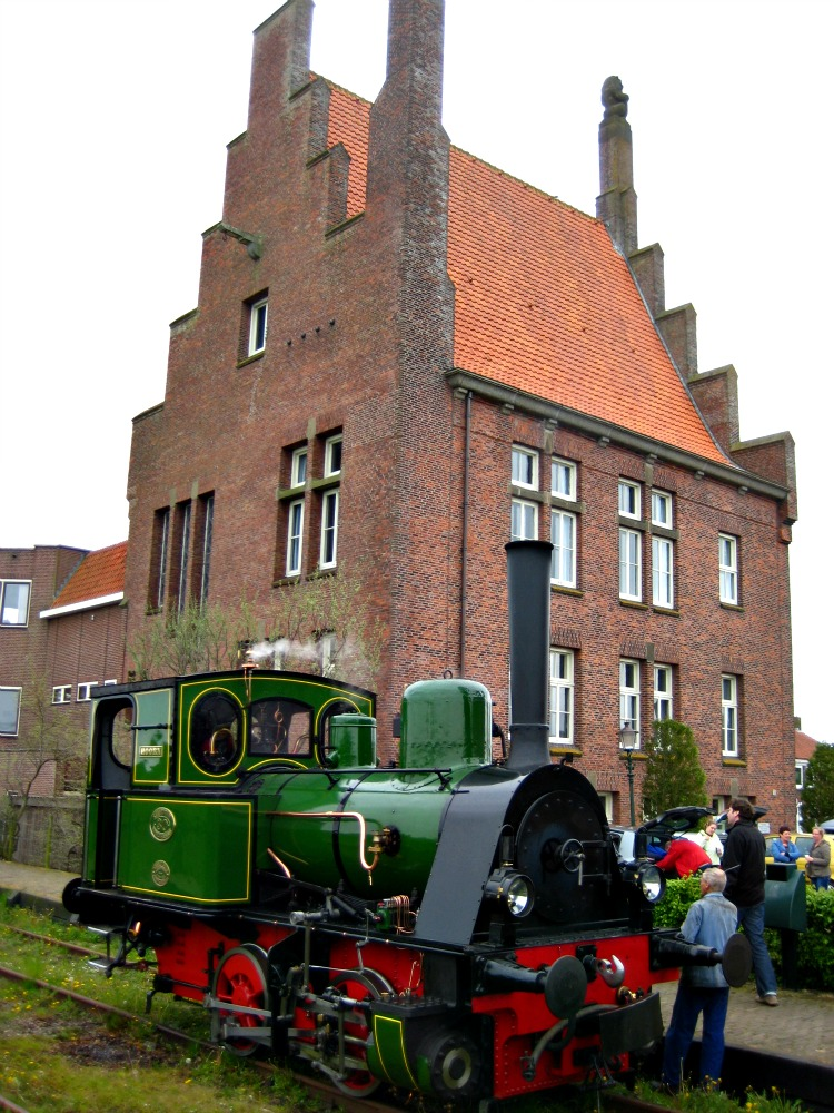 The steam tram in Medemblik, North Holland