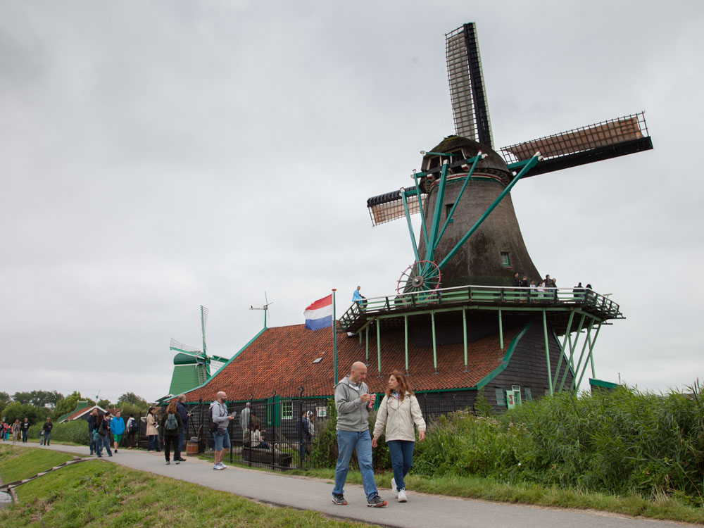 A typical Dutch Windmill at the Zaanse Schans